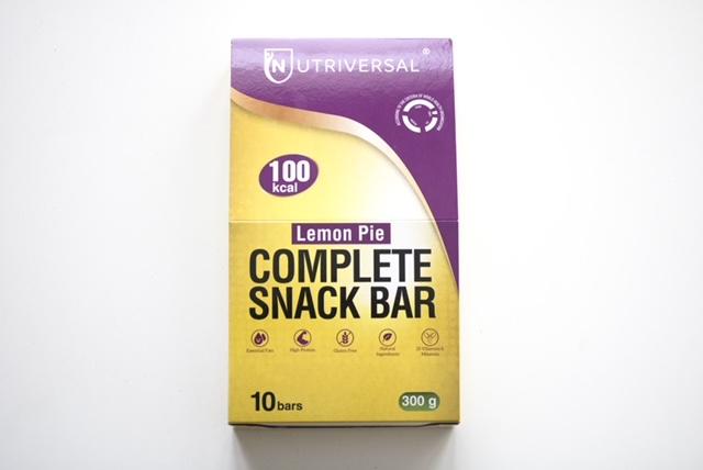 Nutriversal snack Bars sabor Lemon Pie
